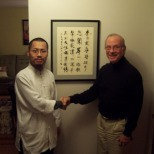 2011年古一雄與世界禪藝術研究院顧問rich教授在美國費城合影