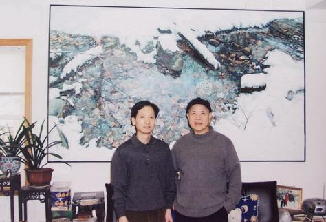 中國禅林畫院院長李智隆與中國禅林畫院名譽院長蔡楚夫先生在紐約合影