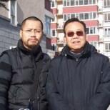 2008年古一雄與中國禅林畫院(HK)名譽顧問張森洲先生在北京。