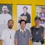 坐起:中國禪林畫院副院長古一雄、院長李智隆、名譽院長朱東明三人展在深圳福永文化中心舉行