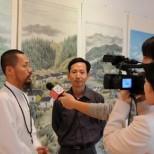 2009年美國中文電視台記者采訪中國禅林畫院院長、副院長