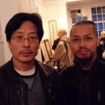 古藝雄與著名油畫家冷軍於紐約