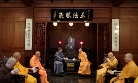 妙峰長老參訪靈隱寺