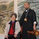 2009年古藝雄與紐約畫家溫淑靜前輩