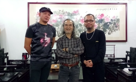 左起:鄧榮斌、莫建文、古一雄於深圳一敘