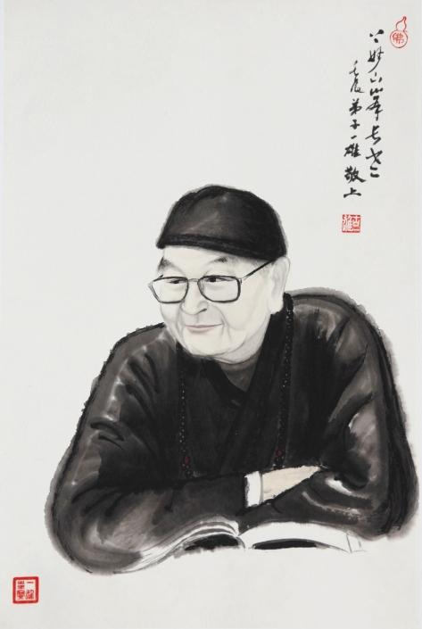 Zen brush painting by Yi-Xiong Gu 古一雄